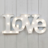 Metall LED Cirkuslampa LOVE - Vit