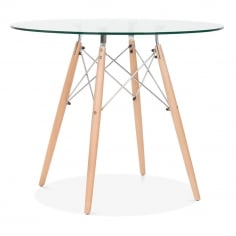 DSW Glass Dining Table - 90cm Diameter
