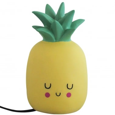 Kawaii LED Ananas Bordslampa, Gul