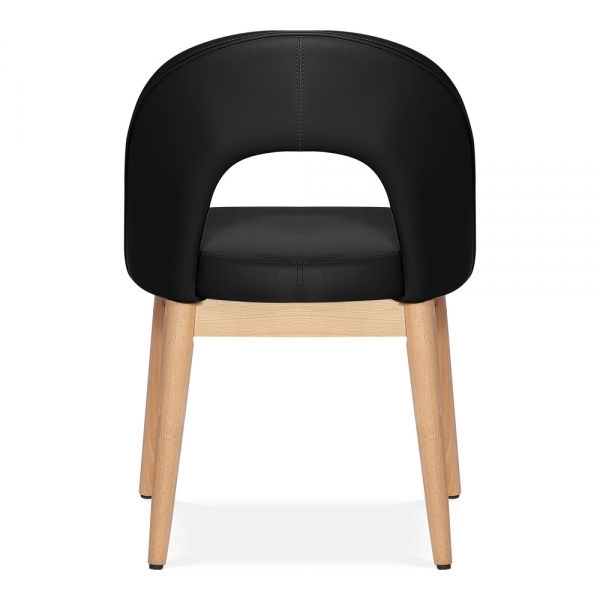 Elbert Matstol Konstläder Svart | Cult Furniture SE