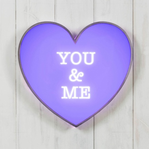 Cult Living Classic Lightbox Hjärta - You & Me