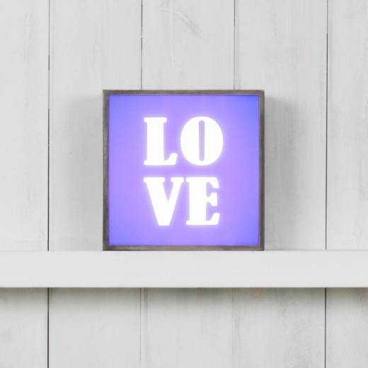 Cult Living Lightbox Takfotsbrädan för Classic Kvadrat Light Box - Love