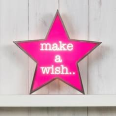 Classic Stjärna Light Box - Make A Wish