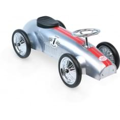Ride On Metal Racing Car - Silver