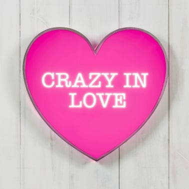 Classic Lightbox Hjärta - Crazy In Love
