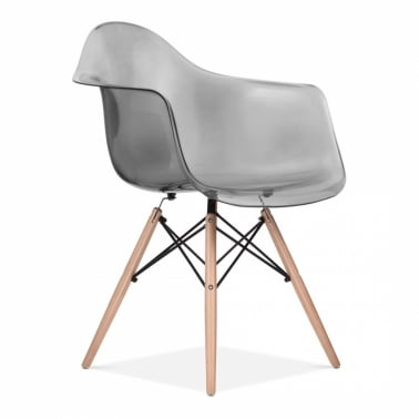 Eames Style Eiffel Chair - Transparent Svart