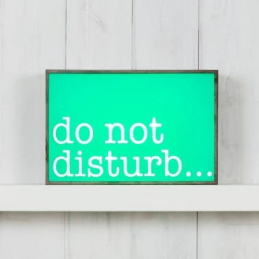 Classic Rektangulär Ljuslådor - Do Not Disturb
