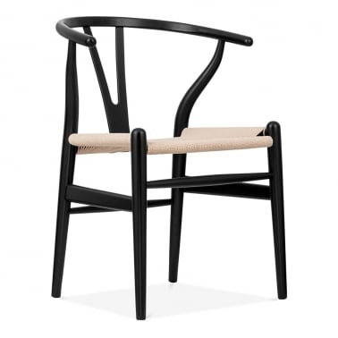 Style Wishbone Chair - Black/Natural