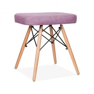 Eames Inspired DSW Pall med Stoppad Sits – Lila