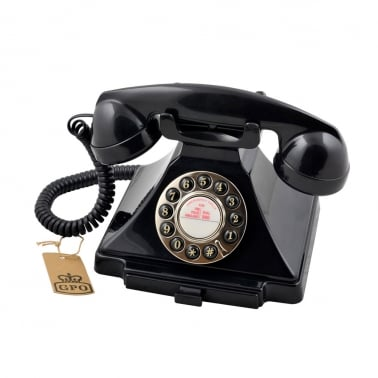 Carrington Klassisk Retro Telefone - Svart