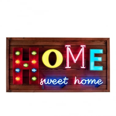 Home Sweet Home LED-lampa Skylt