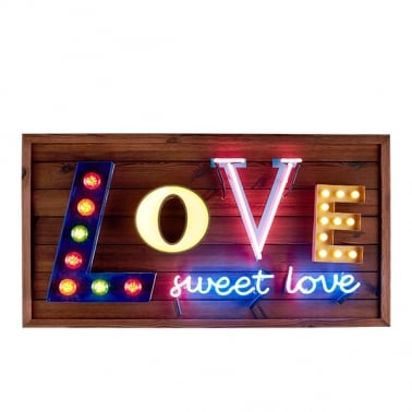Love Sweet Love LED Lampa Skylt