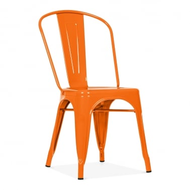 Tolix Stil Metallstol, Orange