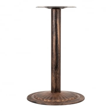 Rhea Stainless Steel Cafe Table Base, Vintage Brass Finish