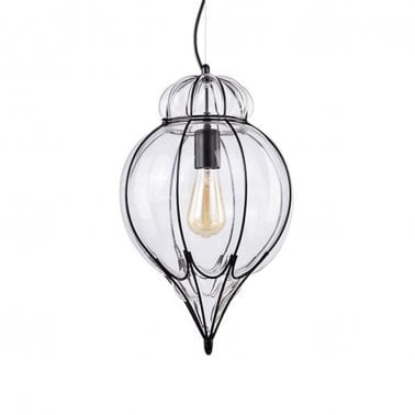 Ferrare Metal Cage Pendant Light - Teardrop