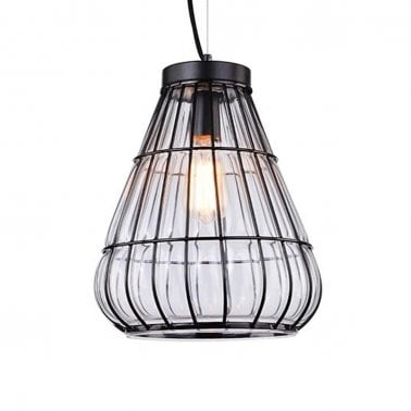 Ferrare Metal Cage Pendant Light - Vase